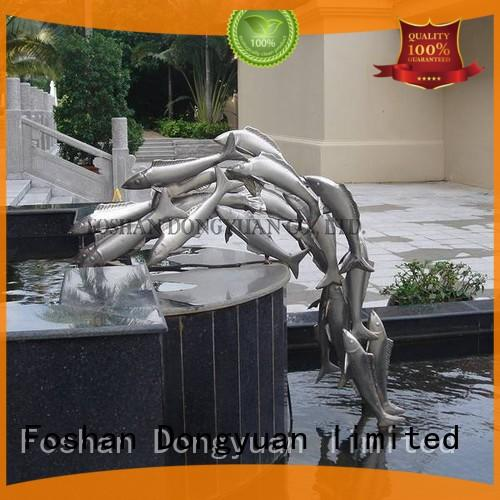 DONGYUAN fish welded metal sculpture customized for street