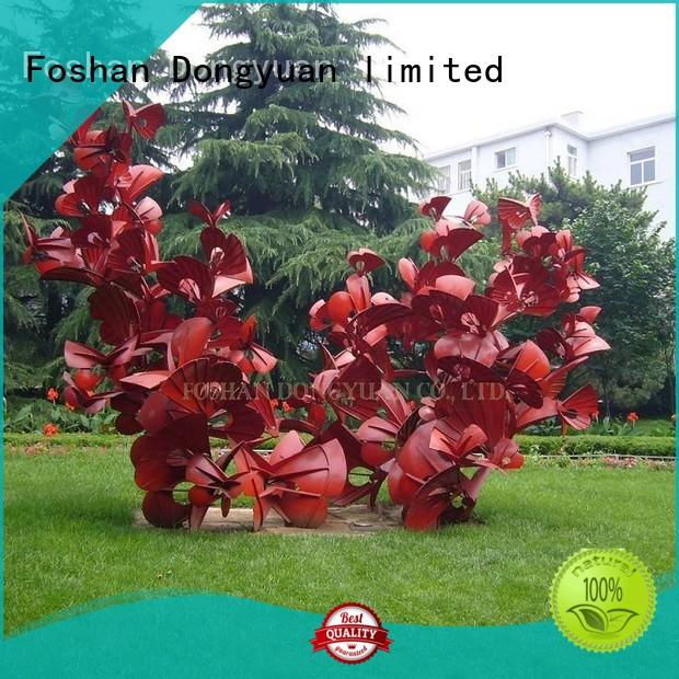 polished outdoor metal fish art with good price for square