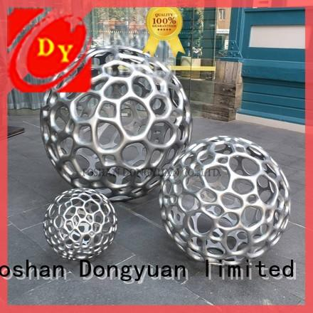 DONGYUAN acrylic sheet metal sculpture with good price for outdoor