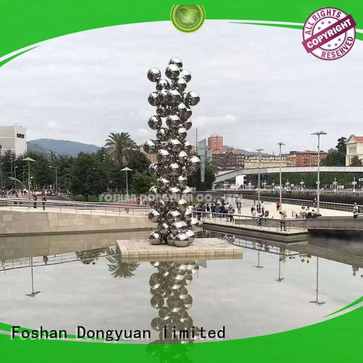 Large Outdoor Stainless Steel Sculpture of Balls