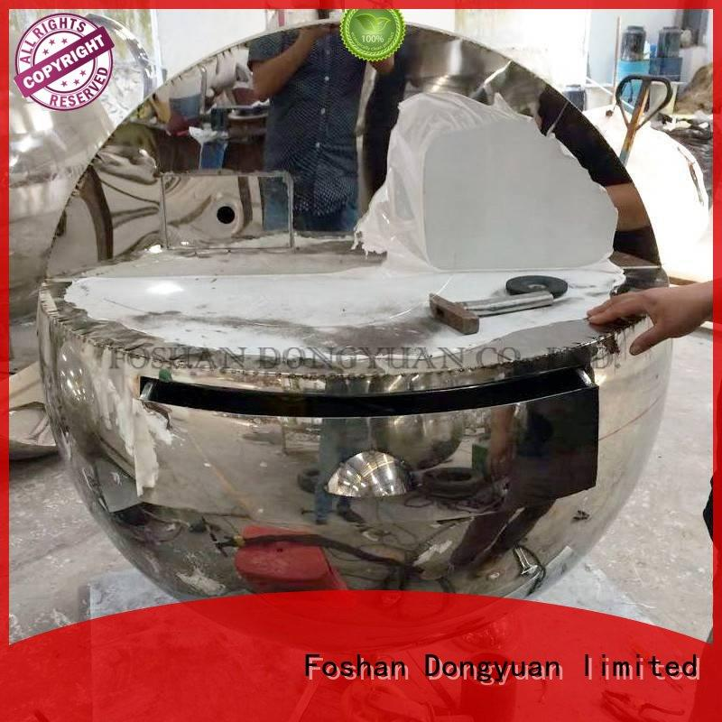 DONGYUAN Brand painted stainless polished metal tree sculpture manufacture