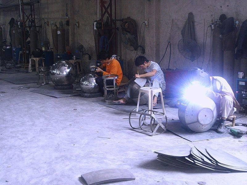 Large-Sized Stainless Steel Hollow Ball/Preparation&Welding