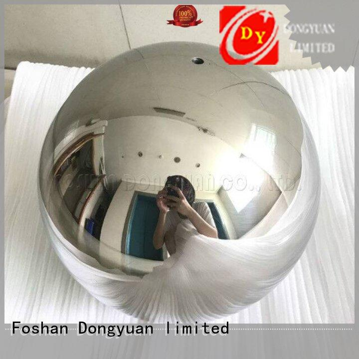 DONGYUAN 63mm 6MM to 300MM metal hollow balls customized for outdoor