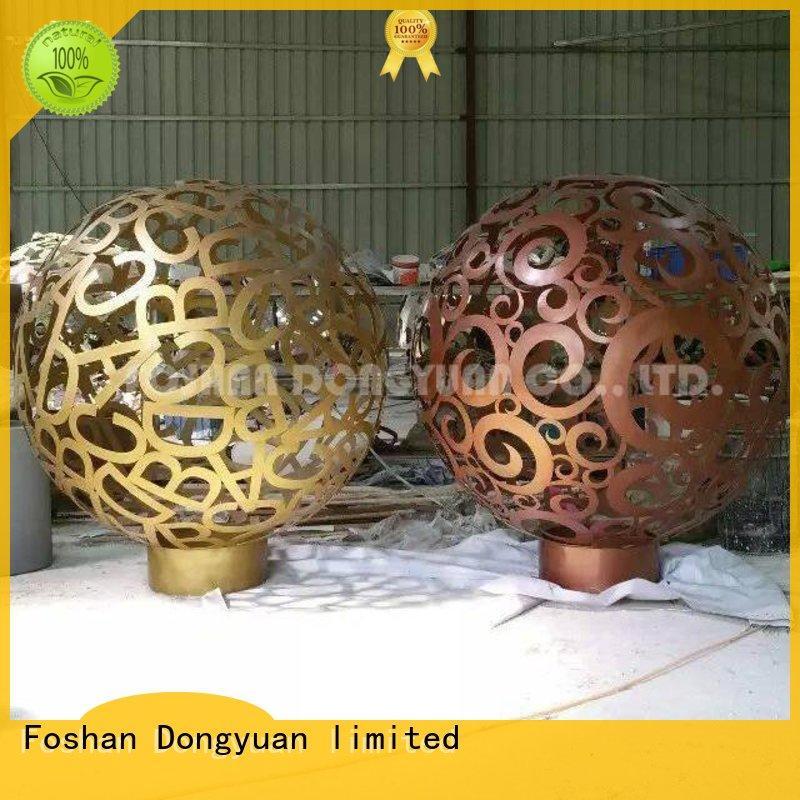 DONGYUAN globe metal tree sculpture company for park